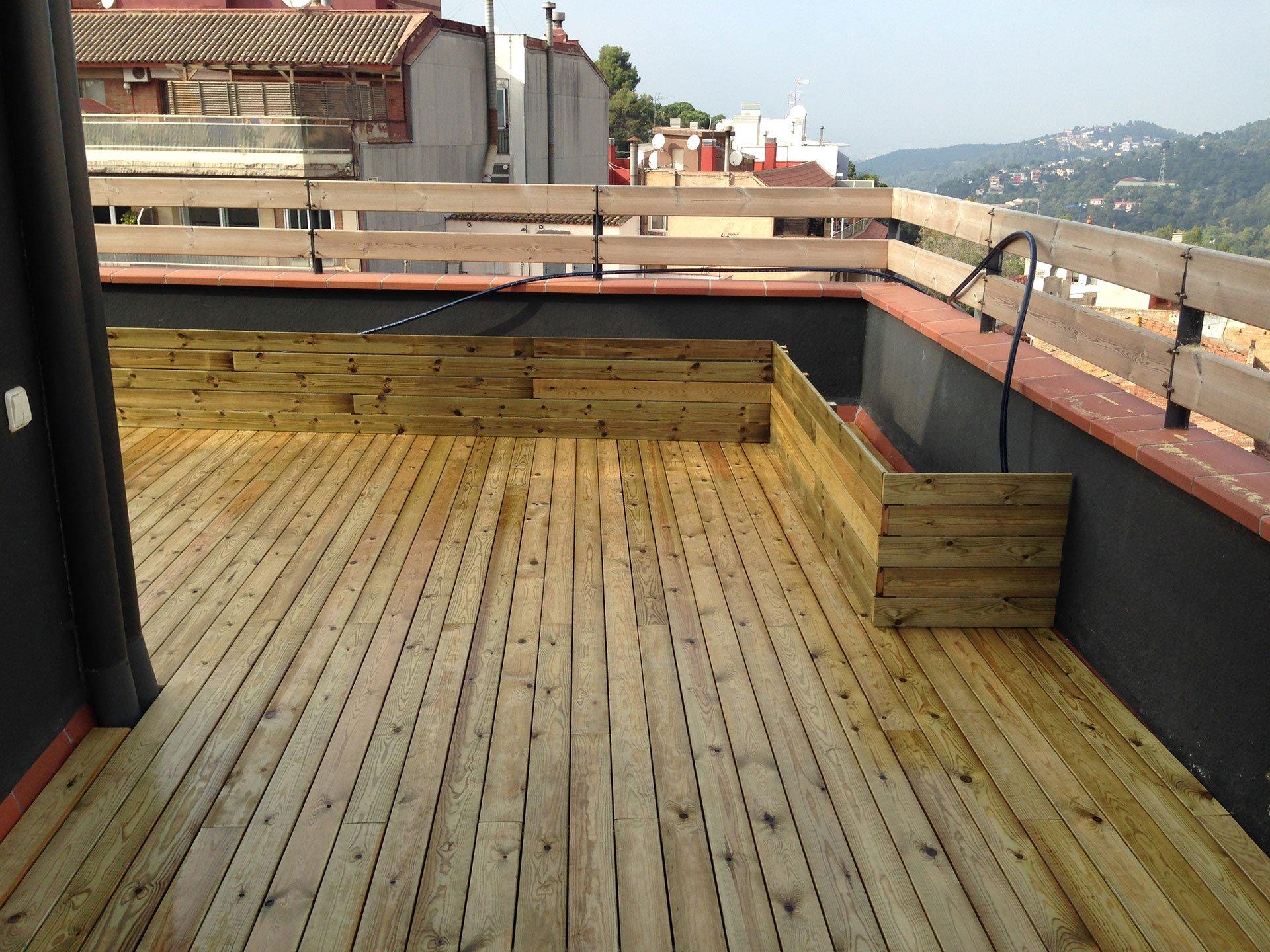 Tarima exterior de pino cuperizado parquets solutions - Tarima de exterior ...