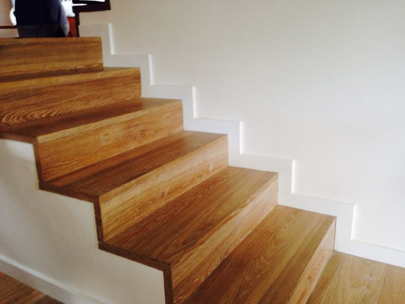 escalera de peldaos macizos de madera - Escaleras Madera